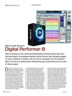 KEYS Mark of the Unicorn Digital Performer 8