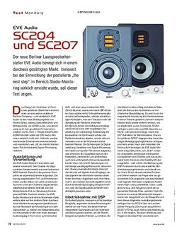 KEYS EVE Audio SC204 und SC207