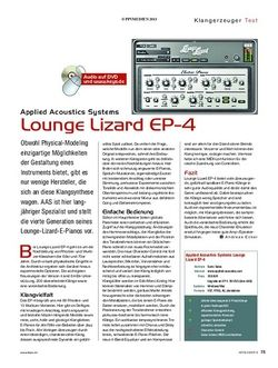 KEYS Applied Acoustics Systems Lounge Lizard EP-4