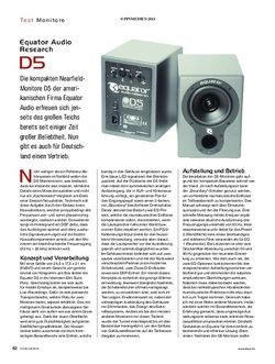 KEYS Equator Audio Research D5