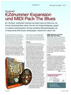KEYS Toontrack EZdrummer Expansion und MIDI Pack The Blues