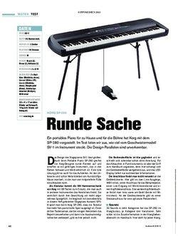 Tastenwelt  Korg SP-280 - Runde Sache