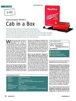 Soundcheck Test Gitarre: Hughes und Kettner Red Box 5
