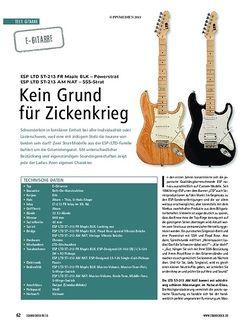 Soundcheck Test Gitarre: ESP LTD ST-213 FR & ESP LTD ST213 AM NAT