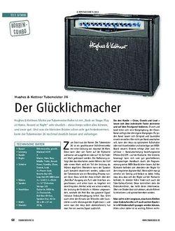 Soundcheck Test Gitarre: Huges & Kettner Tubemeister 36