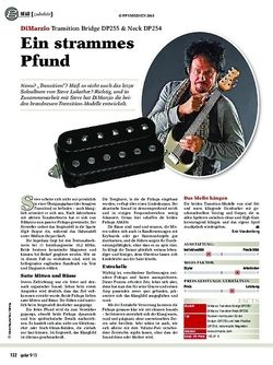 Guitar DiMarzio Transition Bridge DP255 & Neck DP254