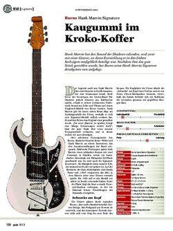 Guitar Burns Hank Marvin Signature