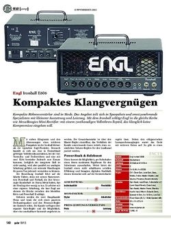 Guitar Engl Ironball E606