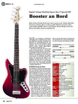 Guitar Squier Vintage Modified Jaguar Bass V Special CRT