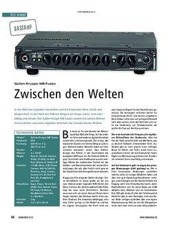 Soundcheck Gallien Krueger MB Fusion