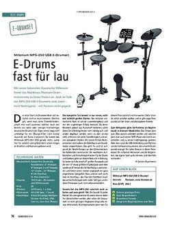 Soundcheck Millenium MPS-250 USB E-Drumset