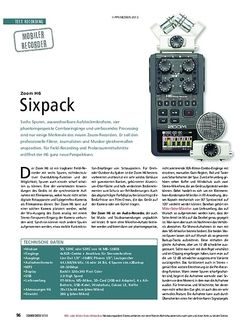 Soundcheck Zoom H6 - Sixpack