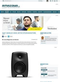 Amazona.de Test: Genelec M040, aktive Studiomonitore