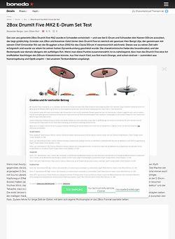 Bonedo.de 2Box DrumIt Five MK2 E-Drum Set Test