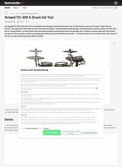 Bonedo.de Roland TD-30K E-Drum Set Test
