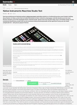 Bonedo.de Native Instruments Maschine Studio Test