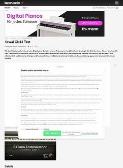 Bonedo.de Kawai CN14 Test