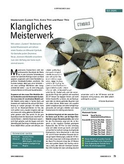 Soundcheck Test Drums: Masterwork Custom Thin, Extra Thin und Paper Thin