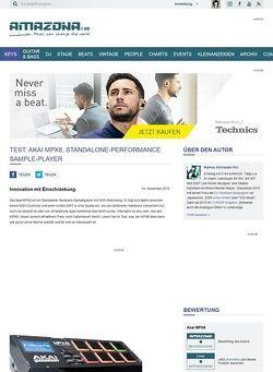 Amazona.de Test: Akai MPX8, Standalone-Performance Sample-Player