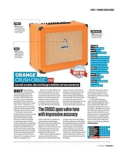 Total Guitar Orange Crush CR60C