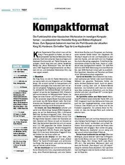 Tastenwelt Korg Kross - Kompaktformat