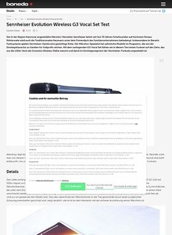 Bonedo.de Sennheiser Evolution Wireless G3 Vocal Set Test