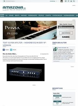 "Amazona.de Test: Elysia xfilter - HighEnd EQ in der 19""-Version"