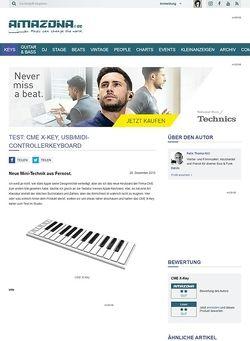 Amazona.de Test: CME X-Key, USB/MIDI-Controllerkeyboard
