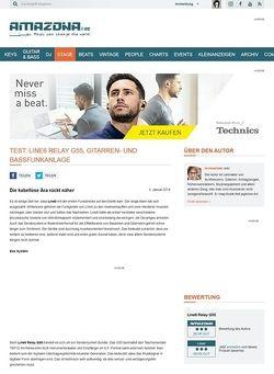 Amazona.de Test: Line6 Relay G55, Gitarren- und Bassfunkanlage