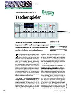 Recording Magazin Teenage Engineering OP-1