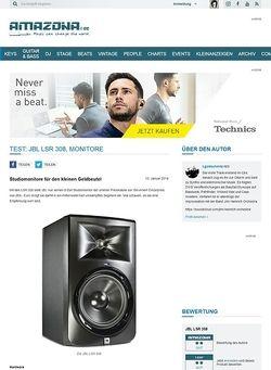 Amazona.de Test: JBL LSR 308, Monitore