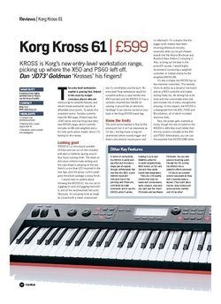 Future Music Korg Kross 61