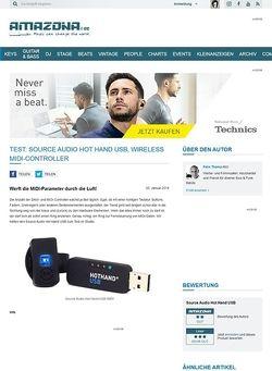 Amazona.de Test: Source Audio Hot Hand USB, Wireless MIDI-Controller