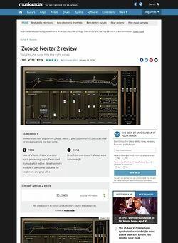 MusicRadar.com iZotope Nectar 2