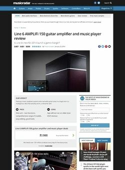 MusicRadar.com Line 6 AMPLIFi 150 guitar amplifier and music player