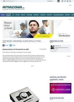 Amazona.de Top News: Universal Audio Apollo Twin