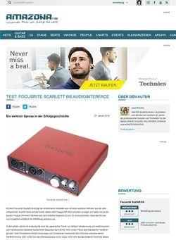 Amazona.de Test: Focusrite Scarlett 6i6, Audiointerface