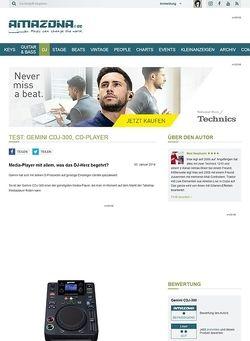Amazona.de Test: Gemini CDJ-300, CD-Player