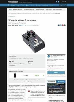 MusicRadar.com Wampler Velvet Fuzz