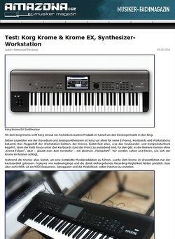 Amazona.de Test: Korg Krome, Keyboard Workstation