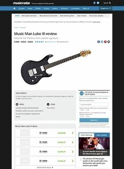 MusicRadar.com Music Man Luke III