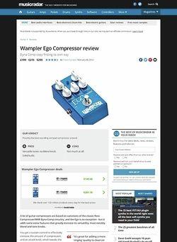MusicRadar.com Wampler Ego Compressor
