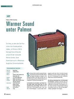 Soundcheck Test Gitarre: Palmer FAB 5 Combo