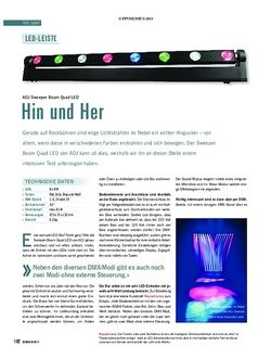 Soundcheck Test Licht: ADJ Sweeper Beam Quad LED