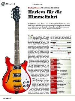 Guitar gear e-gitarre: Harley Benton RB-600CS & RB-612CS