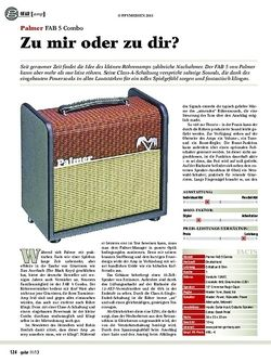 Guitar gear gitarren-amp: Palmer FAB 5 Combo
