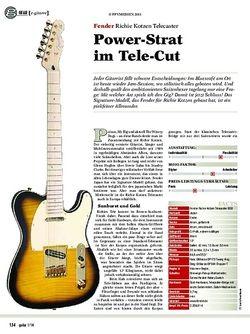 Guitar gear e-gitarre: Fender Richie Kotzen Telecaster