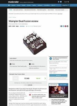MusicRadar.com Wampler Dual Fusion