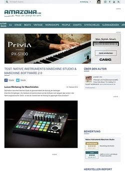 Amazona.de Test: Native Instruments Maschine Studio & Maschine Software 2.0