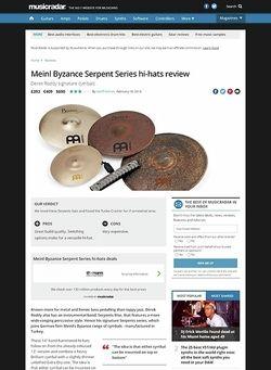 MusicRadar.com Meinl Byzance Serpent Series hi-hats